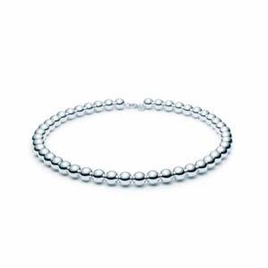 Tiffany & co graduated bead ball silver necklace